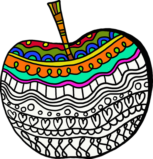 Abstract, Apple, Art, Colorful, Decorated, Eat, Edible