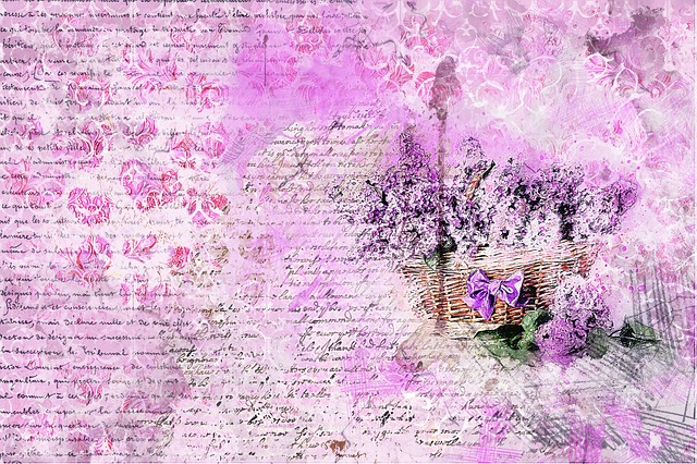 Flowers, Lilac, Basket, Art, Abstract, Artistic