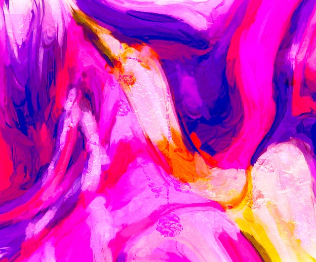 Wild In Pink And Blue, Abstract, Digital-art, Fun, Art