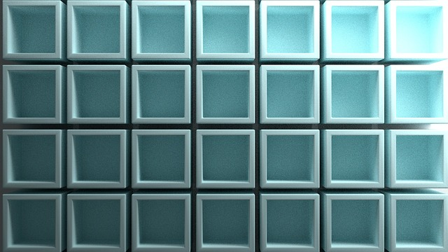 Cube, Cubes, Blue, Abstract, Atmospheric