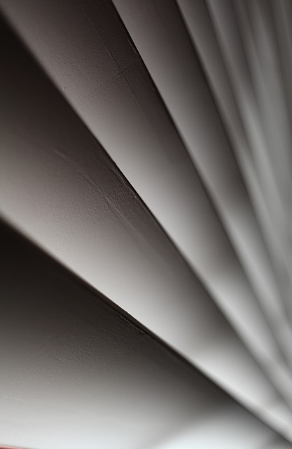 Abstract, Blinds, Curtain, Closed, Macro, Grey, White