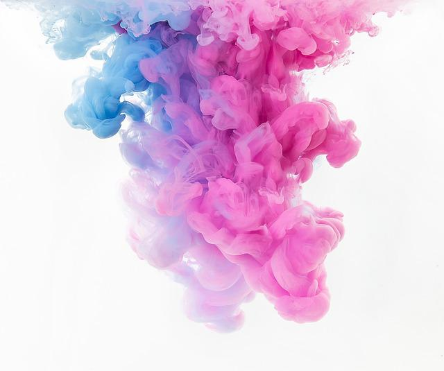 Abstract, Art, Background, Blue, Pink, Cloud, Color