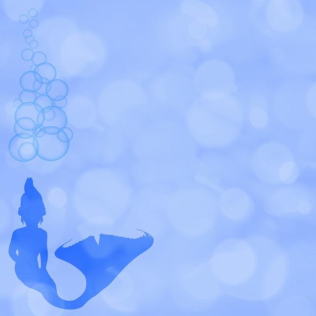Bokeh, Mermaid Digital Paper, Colorful, Abstract