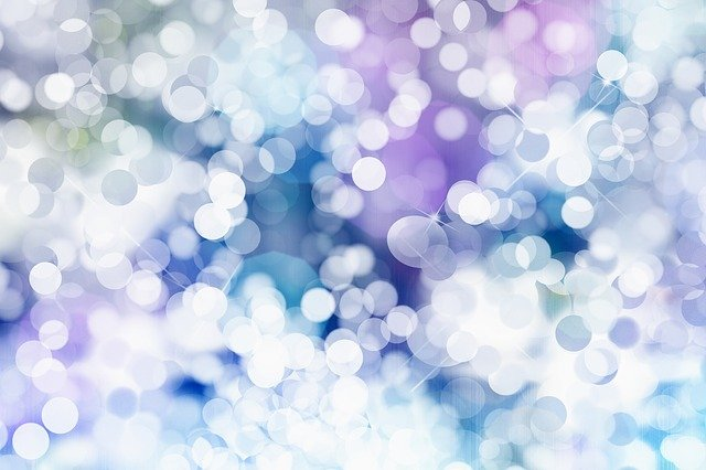 Background, Abstract, Christmas, Bokeh, Lights, Snow