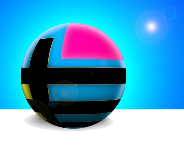Digital Art, Ball, Abstract
