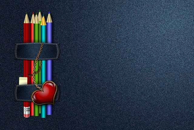 Jeans, Background, Abstract, Pencils, Paint, Eraser