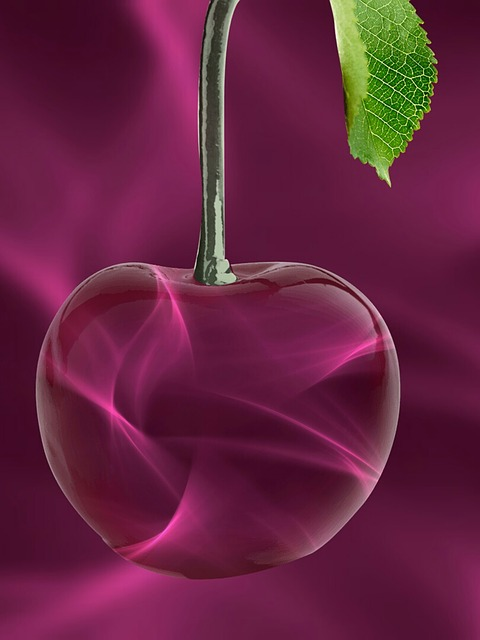 Cherry, Glass, Red, Abstract