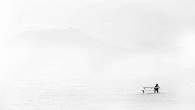Nature, Winter, Fog, Art, Abstract