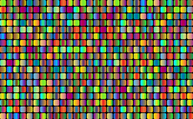 Rounded Squares, Abstract, Geometric, Art, Grid