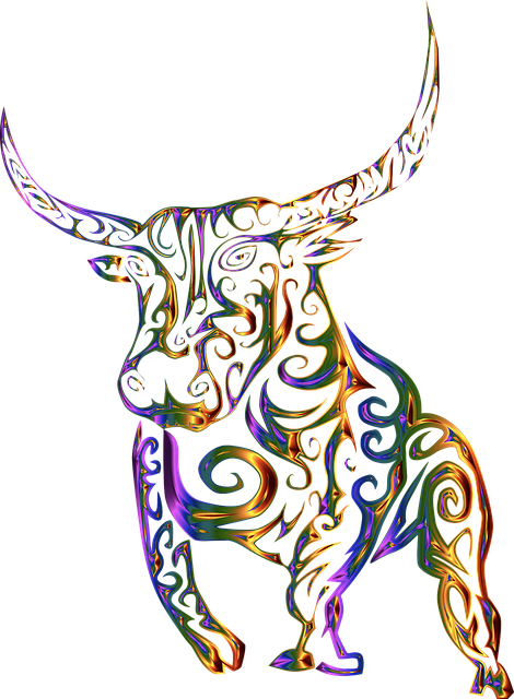 Tribal, Bull, Cow, Abstract, Line Art, Design, Tattoo