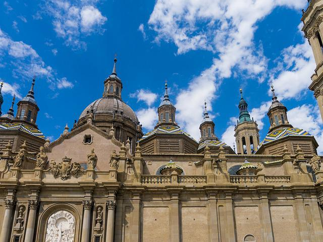 Abutment, Saragossa, Basilica, Aragon, Church, Gantry