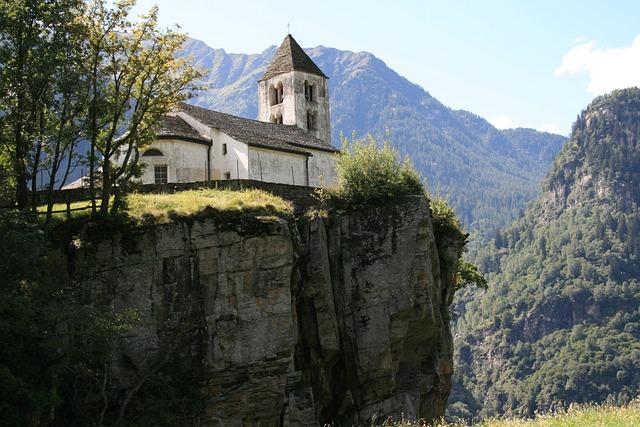Church, Abyss, Ticino, Bergdorf, Switzerland