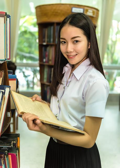 Woman, Library, Students, Study Of, Classmate, Academic
