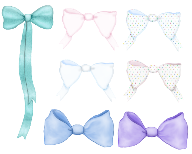 Bow, Ribbon, Element, Decoration, Accent, Pink, Blue