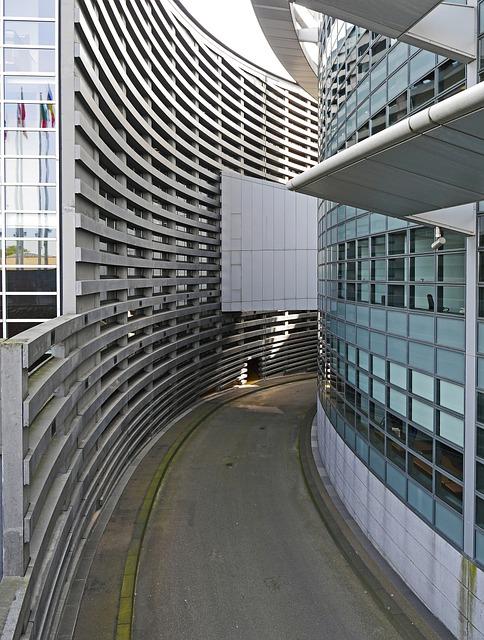 Architecture, European Parliament, Strasbourg, Access