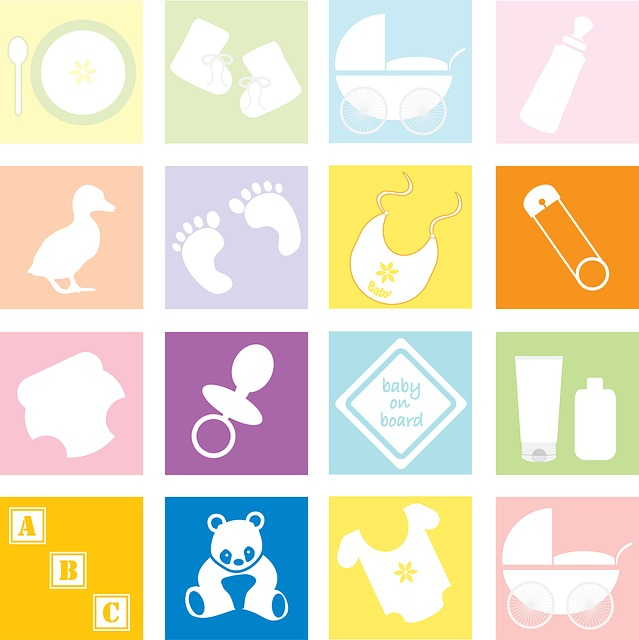 Baby, Elements, Accessories, Set, Cute, Baby Vector