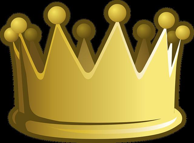Crown, Golden, Yellow, Emperor, Accessories, Accessory