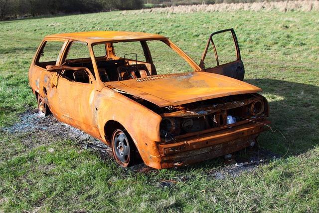 Burned, Accident, Auto, Automobile, Body, Car, Crash