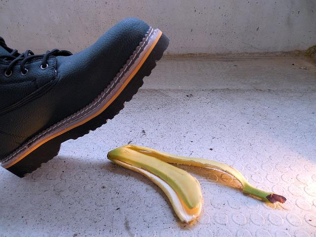Accident, Injury, Risk, Banana Peel, Banana, Slip
