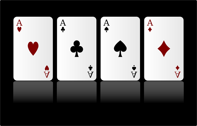 Cards, Game, Aces, Four, Diamonds, Hearts, Clubs