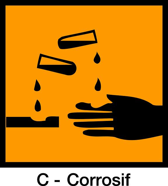 Sign, Corrosive, Acid, Warning, Burning, Corrosion