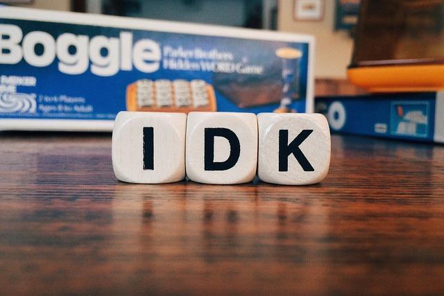 Idk, I Don't Know, Texting, Social Media, Acronym