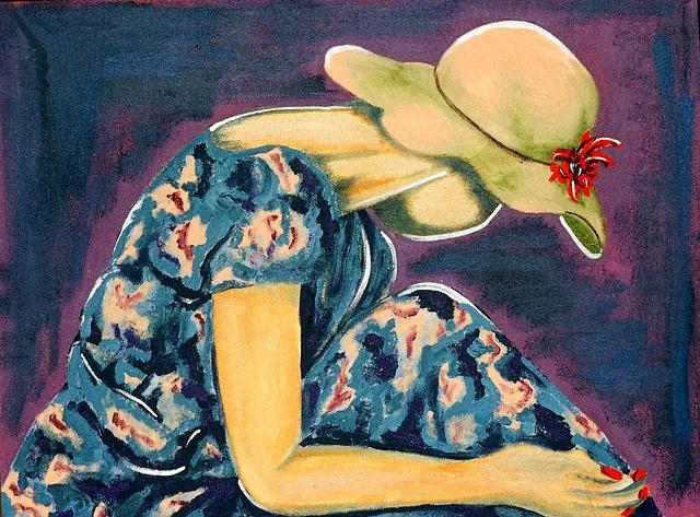 Painted Woman, Acrylic, Artistic, Creative, Studio