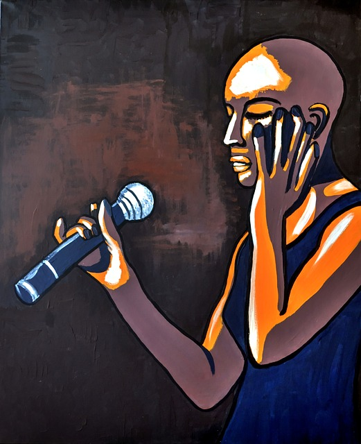 Painting Of Singer, Acrylic Paint, Canvas