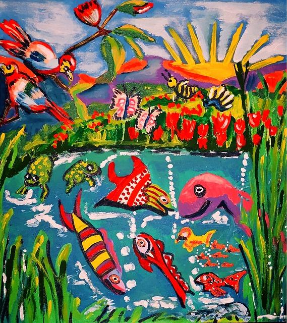 Painted Picture, Acrylic Paint, Little Children