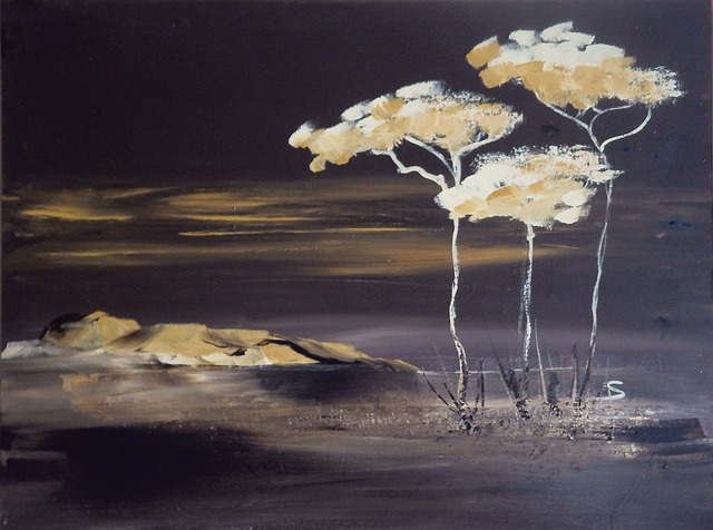 Acrylic Painting, Own Production, Savannah