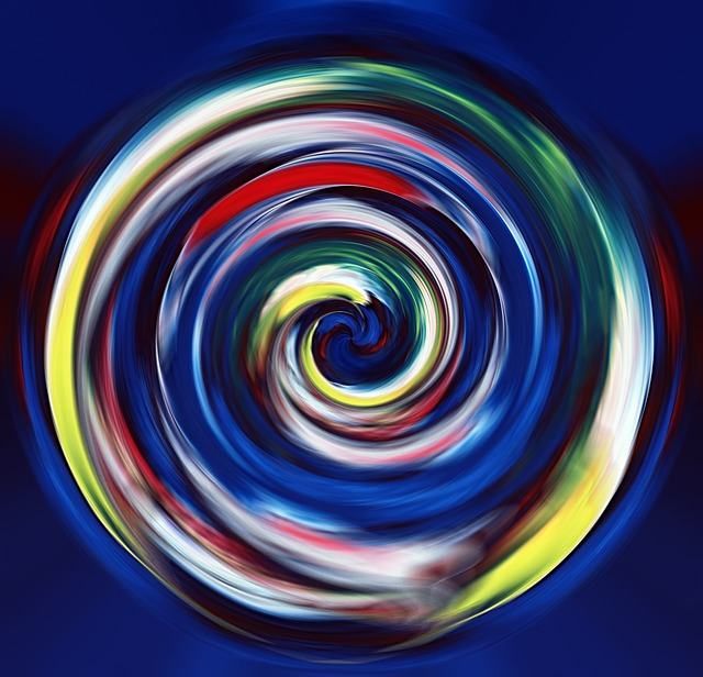Acrylic Paints, Color Area, Pattern, Rotated, Spiral