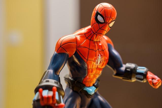 Free photo Action Hero Held Cartoon Character Spiderman ...