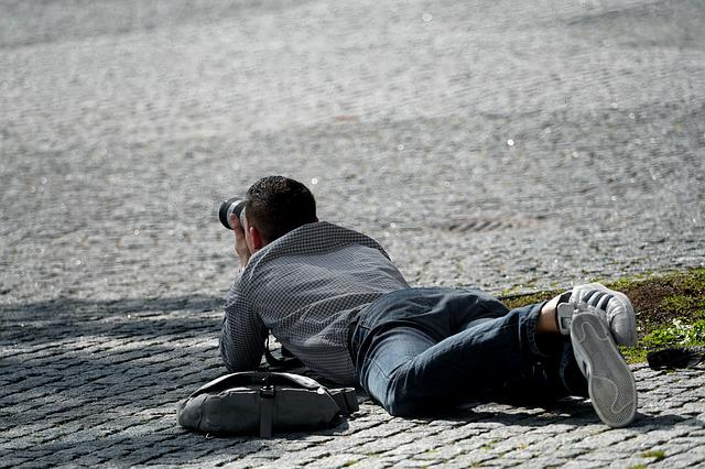 Photographer, In Action, Action, Out, Human, Camera