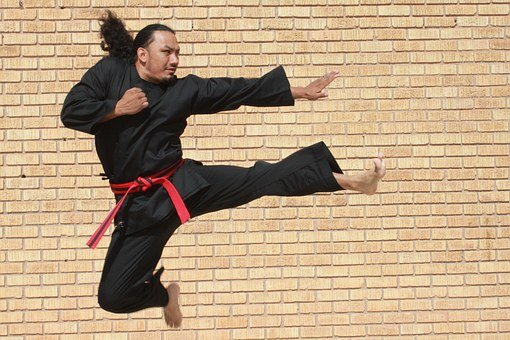 Jump, Kick, Man, Sport, Athlete, Action, Adult