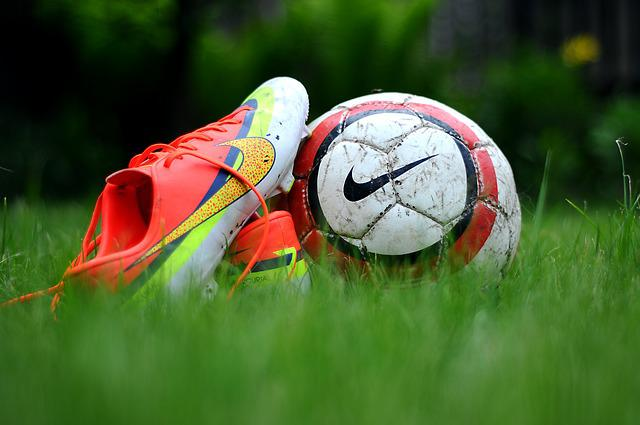Green, Grass, Shoes, Nike, Football, Activity, Action