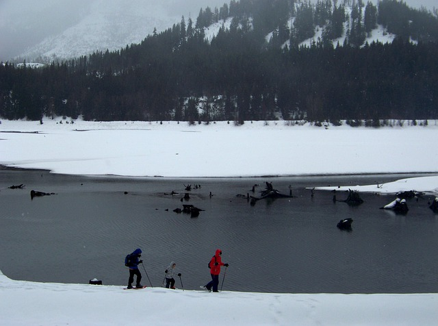 Snowshoe, Snow, Winter, Lake, Mountain, Sport, Active