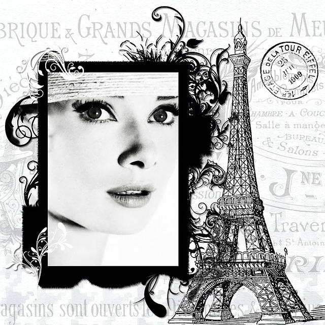 Paris, Audrey Hepburn, Actress, Vintage, Eiffel
