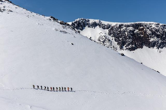 Winter, Mountain Climbing, Mountain, Adatara, People