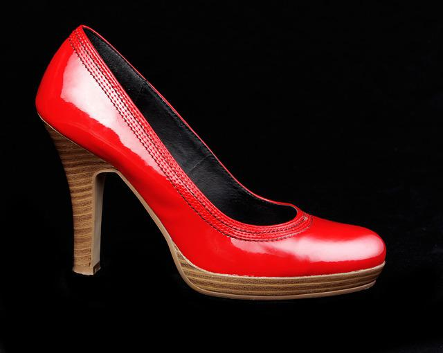 Shoes, Red, Stock, Add, Woman, Black Shoes