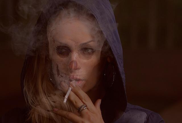 Smoker, Addict, Addiction, Fatal, Skull, Toxic, Smoky