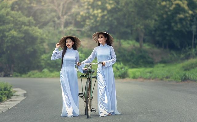 Bicycle, Asia, Lady, Thailand, Hat, Stance, Adult