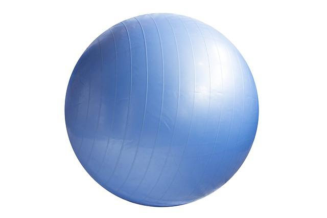 Exercise Ball, Ball, Blue, Fitness, Exercise, Adult