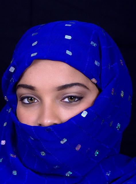 Portrait, People, Veil, Adult, Wear, Woman, Headscarf
