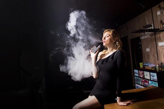 People, Adult, Woman, Smoke, A, Electronic Cigarette