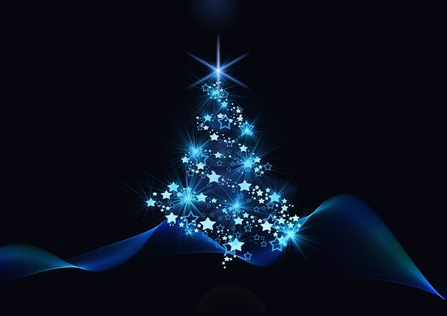 Christmas, Blue, Black, Christmas Motif, Advent