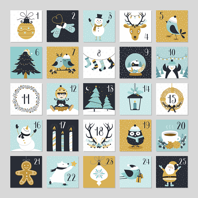Advent, Advent Calendar Printable, Calendar