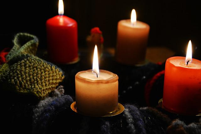 Candles, Advent Wreath, Advent, Christmas Jewelry