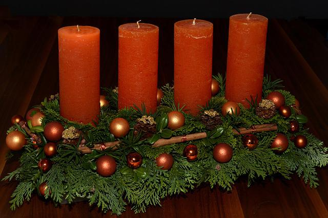 Advent Wreath, Candles, Advent, Christmas