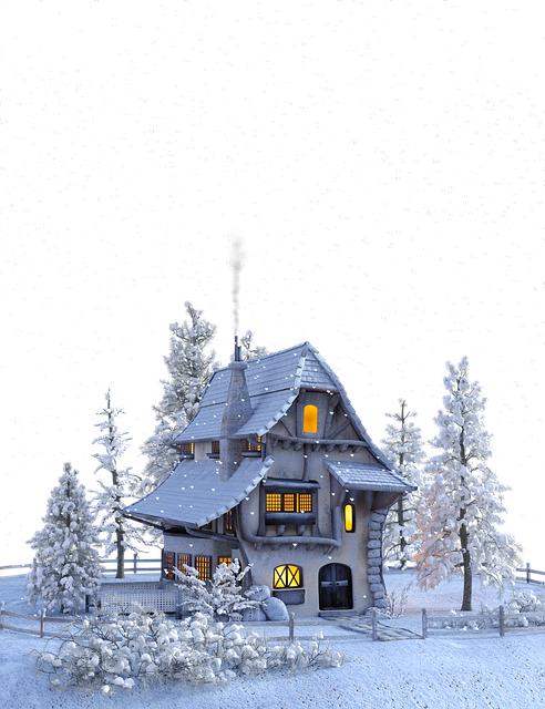 Christmas, Winter, Snow, Snowflakes, House, Advent