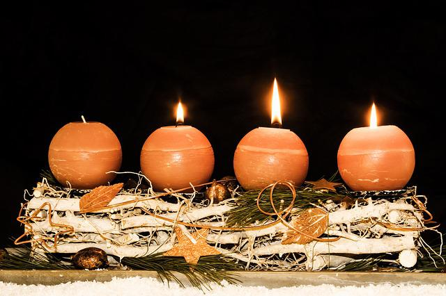 Advent Wreath, Advent, Third Advent, Christmas Time